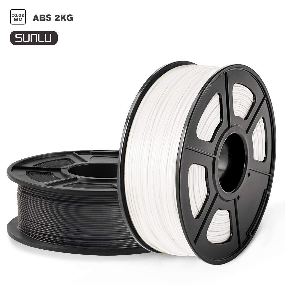 ABS Filament 1.75mm Dimensional Accuracy +//- 0.02 mm 2 kg Spool ABS Black+Gray 1.75mm SUNLU ABS 3D Printer Filament