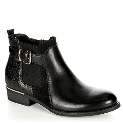 a39ac90edd XAPPEAL Womens Faux Leather Croc Print Ankle Boot Shoes