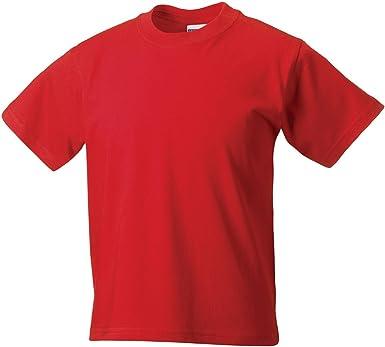 Jerzees Crew - Camiseta de manga corta para niño Clair Rouge 5-6 Años: Amazon.es: Ropa y accesorios