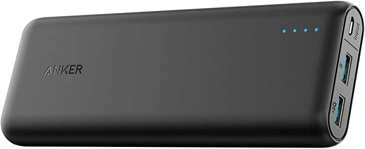 Anker PowerCore Speed 20000, 20000mAh Qualcomm Quick Charge 3.0 & PowerIQ Portable Charger, with Quick Charge Recharging, Power Bank for Samsung, iPhone, iPad and More, Black (A1278)
