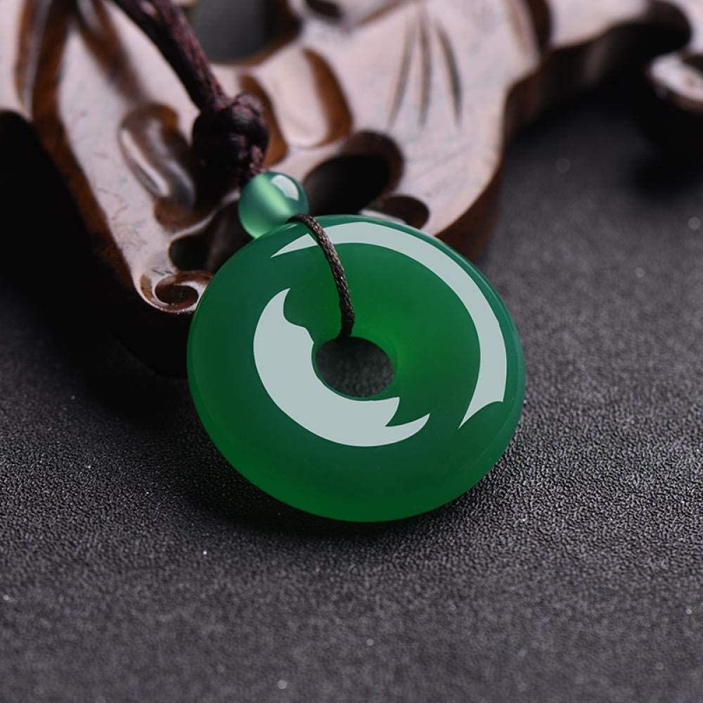 VFJLR Colgante Colgante de Donut de Jade Multicolor Natural Collar de ágata Accesorios de Moda Joyas de Encanto Amuleto Tallado Regalos para Mujeres Hombres
