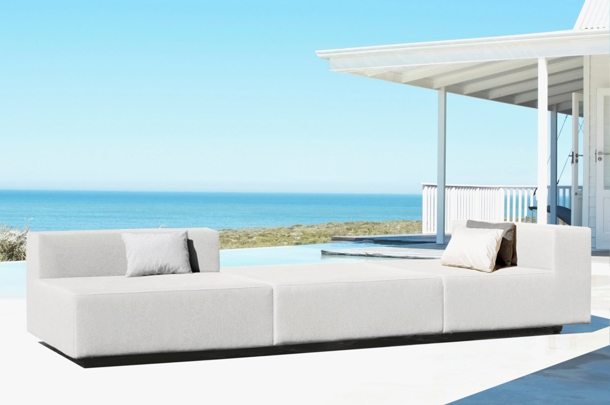Mueble De Jard N Modular Sof Exterior En Tela Impermeable  # Muebles Exterior