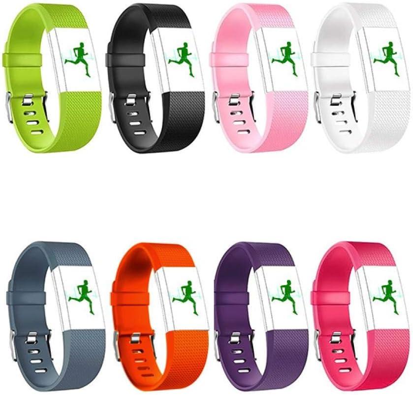 shuxun Bracelet Compatible avec Fitbit Charge 2 Bracelet en Silicone S Rose Bracelet Rempla/çable