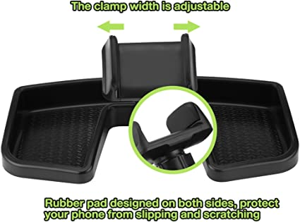 Qiilu Dash Cell Phone Holder Mount 360/° Rotate Car GPS Dashboard Mount Cell Phone Bracket Nonslip GPS Support Holder for Jeep Renegade 2014-2017