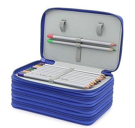 Icegirl Super Large 72 Slots Pencil Case 4 Layers Handy Wearable Oxford Pencil Bag Portable Large Capacity Drawing Sketching Pencil Organizer Student ...