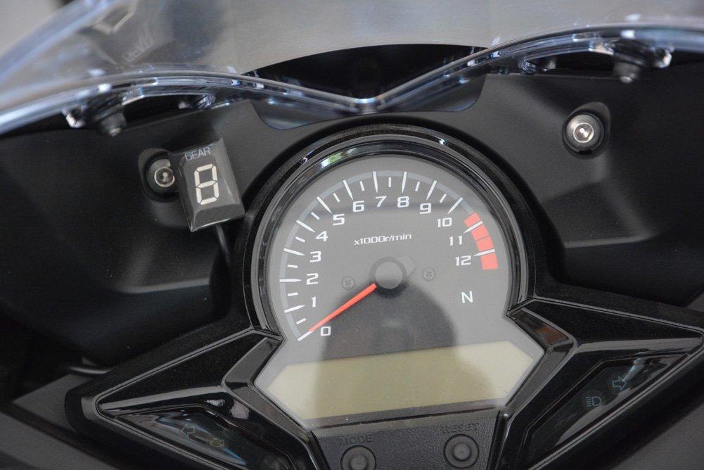 IDEA Waterproof Motorcycle Gear Indicator Blue LED Display for Honda Plug /& play Recent year model, Blue