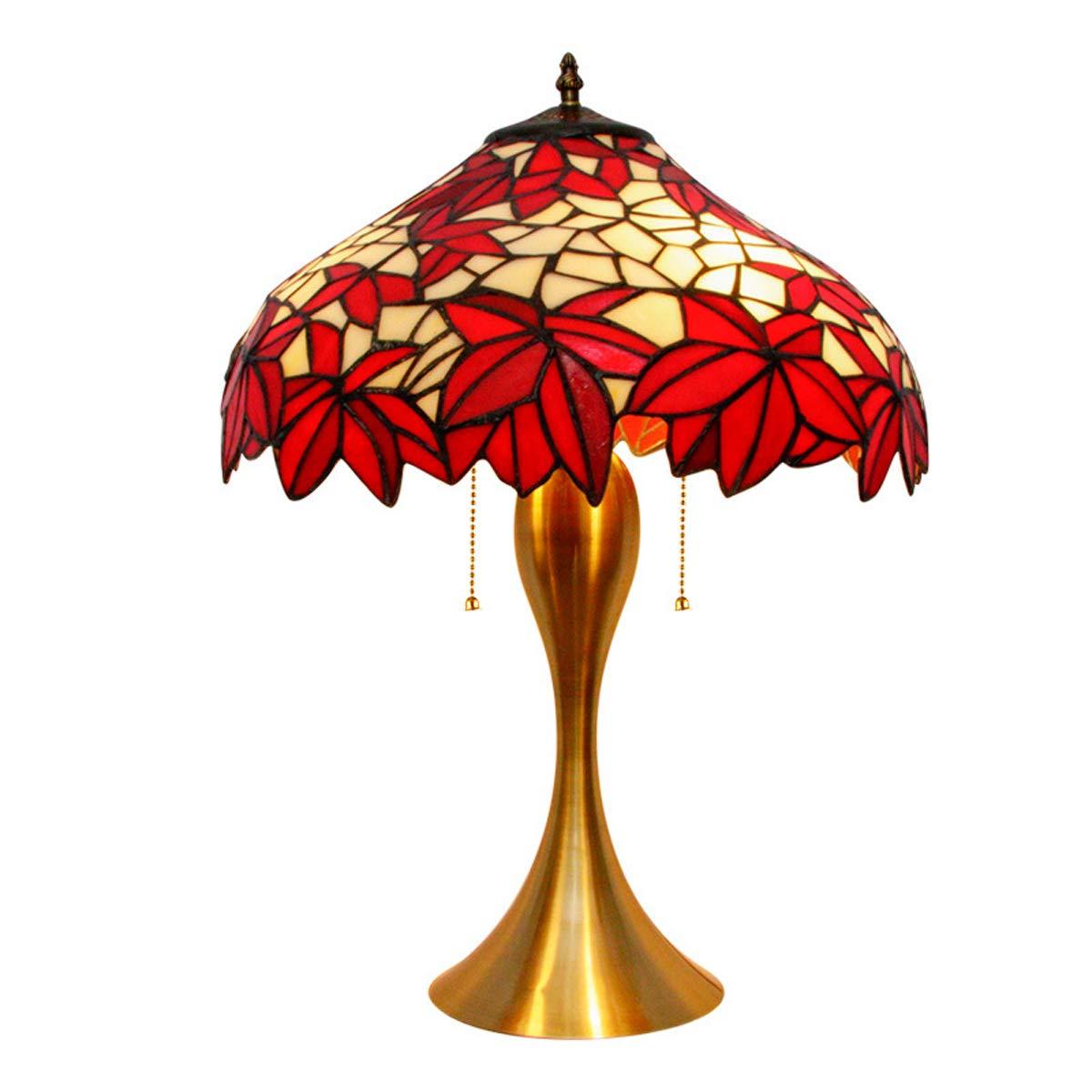 POOPFIY Lámpara De Mesa Hecha A Mano De Tiffany, Pantalla De ...