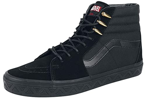 Vans Marvel Black Panther SK8-Hi Sneakers Black EU40: Amazon.co.uk ...