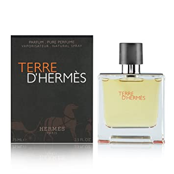 Amazoncom Terre D Hermes By Hermes For Men Parfum Spray 25 Oz