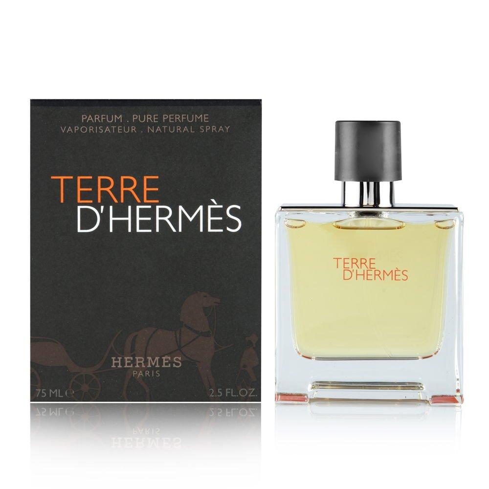 Amazoncom Terre D Hermes By Hermes For Men Parfum Spray 25 Oz