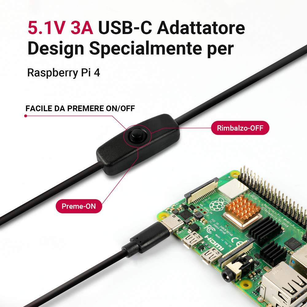 HDMI 3 Dissipatori di Calore Ventola Alimentatore 5.1V3A LABISTS Raspberry Pi 4 Custodia Accessori per Raspberry Pi 4 Cacciavite Magnetico