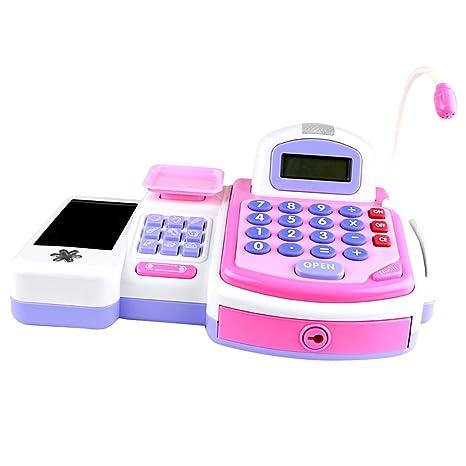Juguete Supermercado Caja Registradora Pretende PLAYSET Calculadora Dinero Electrónico Niños