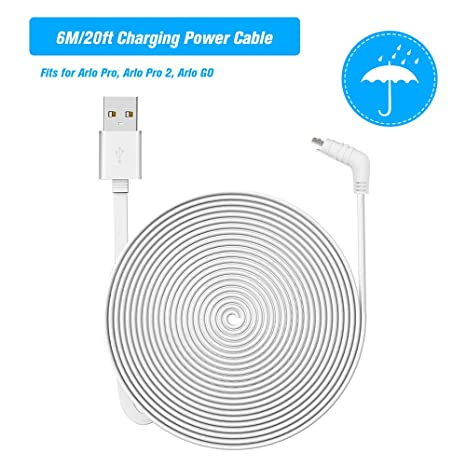 Amazon com: OWSOO 6M/20ft Charging Power Cable Fits for Arlo