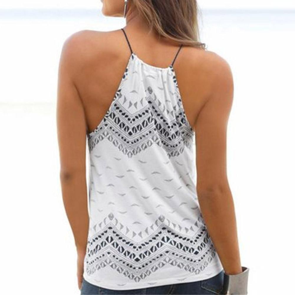 Damen Tank Tops Forh Mode Sommer Boho Druck Shirt Lose Neckholder /ärmellose beil/äufige Oberteile Elegant Sommer Strand Freizeit Blusen T-Shirt Bluse Tops Weste Hemd