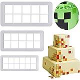 Mity Rain Square Cookie Cutter - Geometric Multicutter-Square Cake Fondant Cutter - 3 Size,Square Biscuit Cutters,Novel…