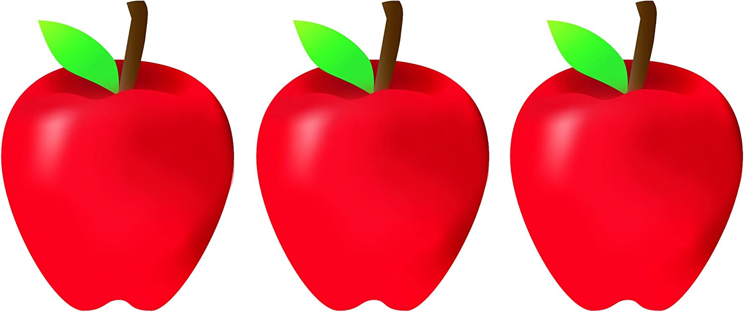 Hygloss Products Apples Classroom Accents – Creative Teaching Resources – 7 Inches, 30 Pack (33748)