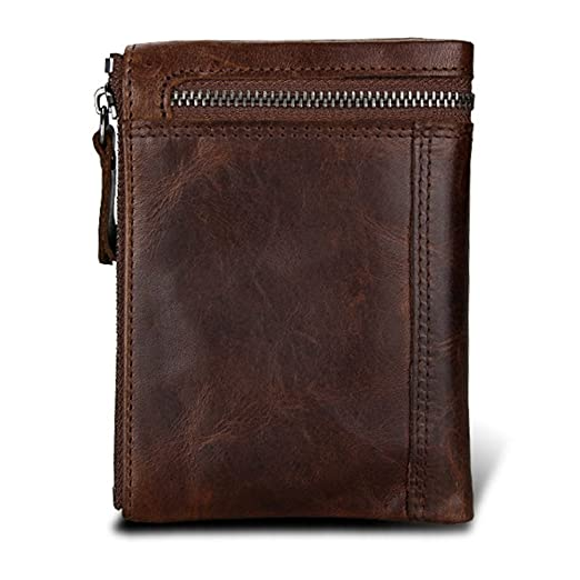 Hibate - Cartera para hombre Hombre Gris chocolate One_Size: Amazon.es: Equipaje