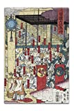 Gathering of Gods at the Great Shrine at Izumo Japanese Wood-Cut Print (8x12 Premium Acrylic Puzzle, 63 Pieces)
