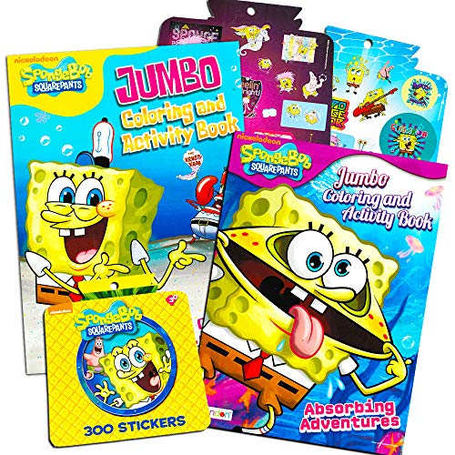 Sticker Spongebob Squarepants - Spongebob SquarePants Coloring and Activity Book Set with Stickers (2 Books)
