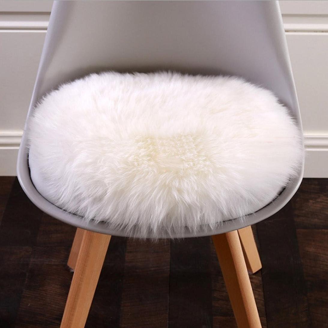 Mamum Tapis en Fausse fourrure Tapis, Housse de chaise en peau de mouton synthétique BlancGris , Gray Ⓑ, 30*30CM