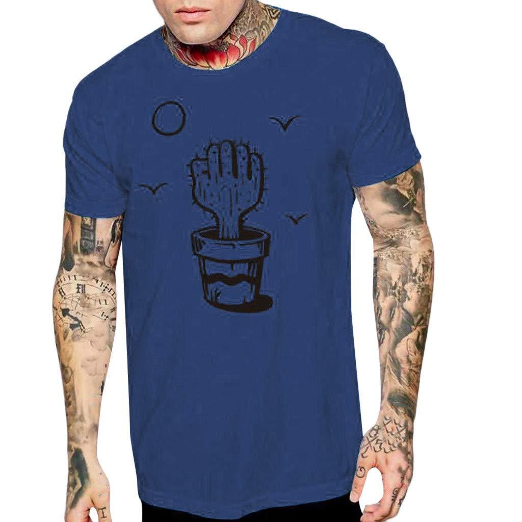 aiNMkm Holiday T Shirts,Men's Printing Tees Shirt Short Sleeve T-Shirt Top Blouse,Navy,M