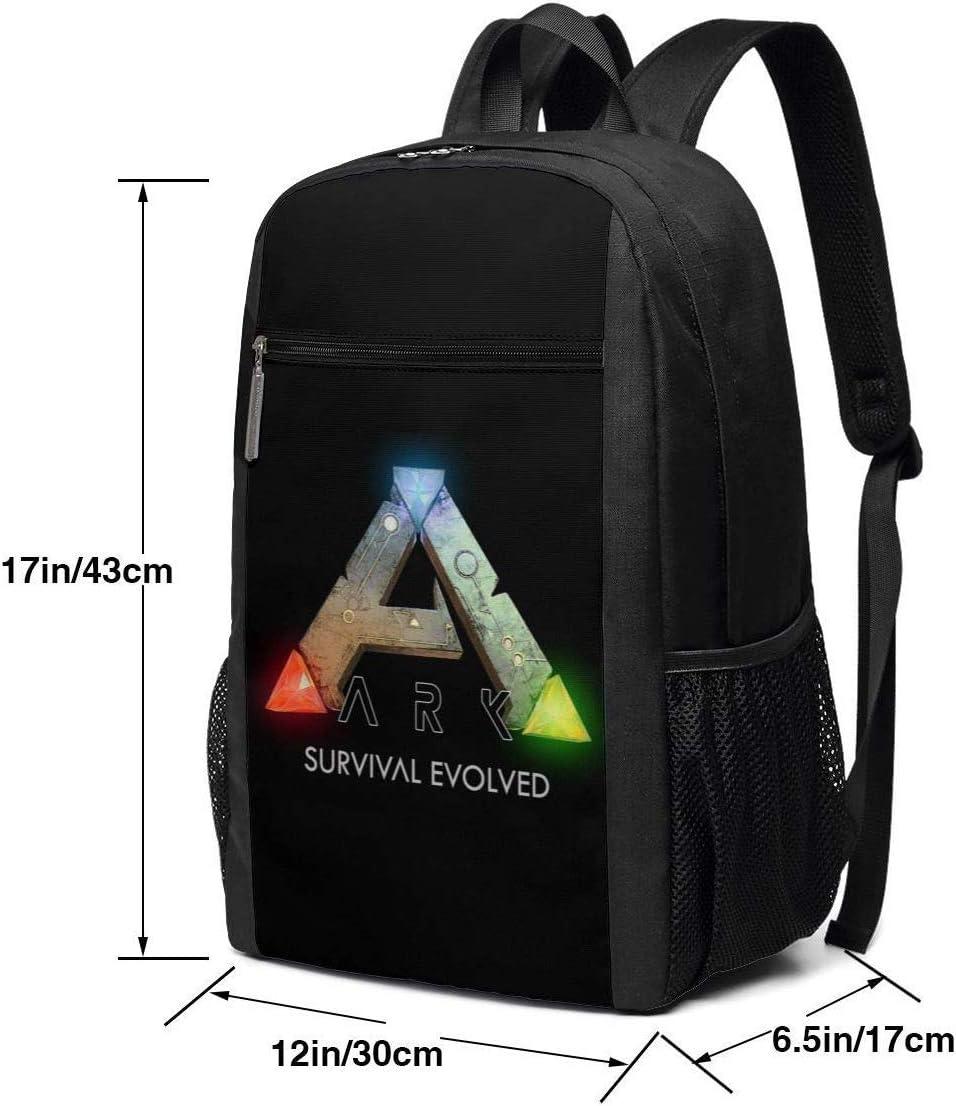 Sac /à Dos de Voyage Cartable ARK Survival Evolved Logo Backpack Laptop Backpack School Bag Travel Backpack 17 inch