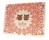 Owl Lovers Letterpress Love Card by Night Owl Paper Goods
