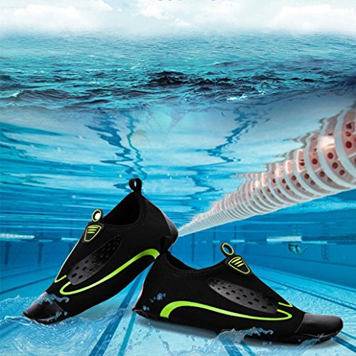 Hunpta Unisex Women Men Quick-Dry Water Socks Swim Surf Yoga Sports Skin Shoes Green EtEkPo