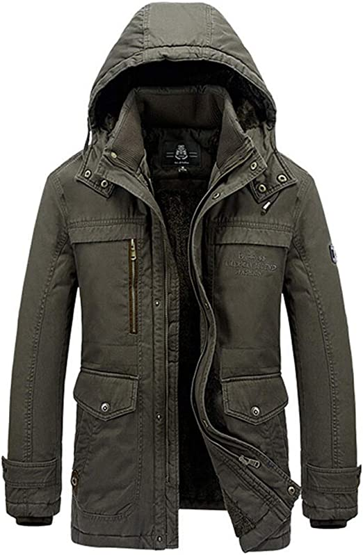 XQS Mens Thicken Outdoor Padded Down Jacket Coat