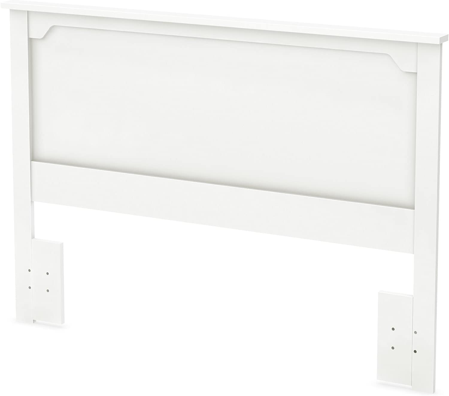 South Shore Furniture 54/60'' Fusion Headboard, Full/Queen, Pure White