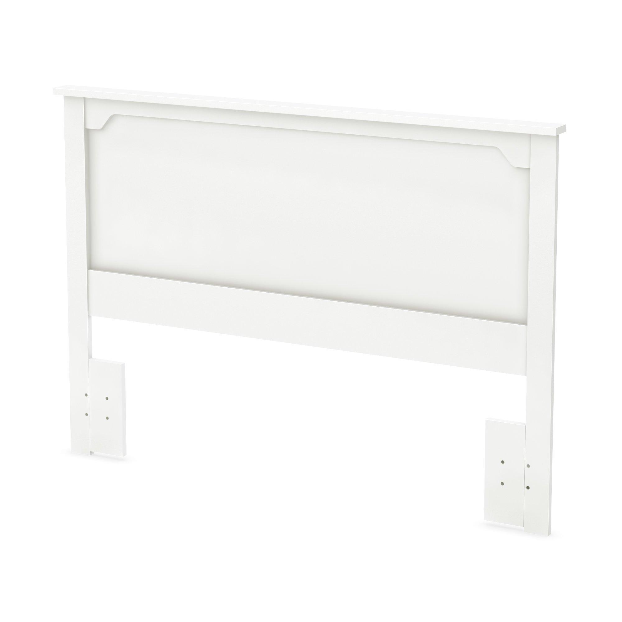 South Shore Furniture 54/60'' Fusion Headboard, Full/Queen, Pure White