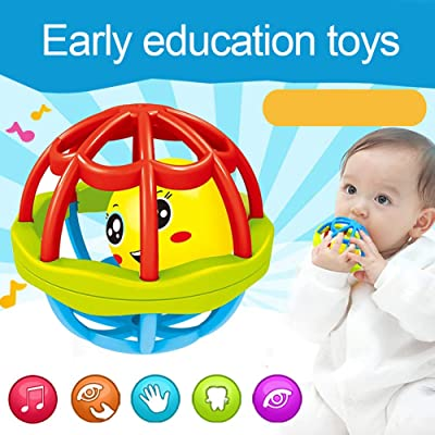 Yinpinxinmao Rattle & Sensory Teether Toy Baby Teether Rattle Toy Intelligence Grasping Gums Hand Bell Funny Hollow Gift: Toys & Games