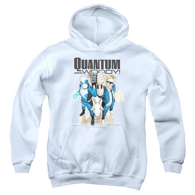 Quantum And Woody - Los jóvenes Sudadera con capucha, Small, White: Amazon.es: Ropa y accesorios
