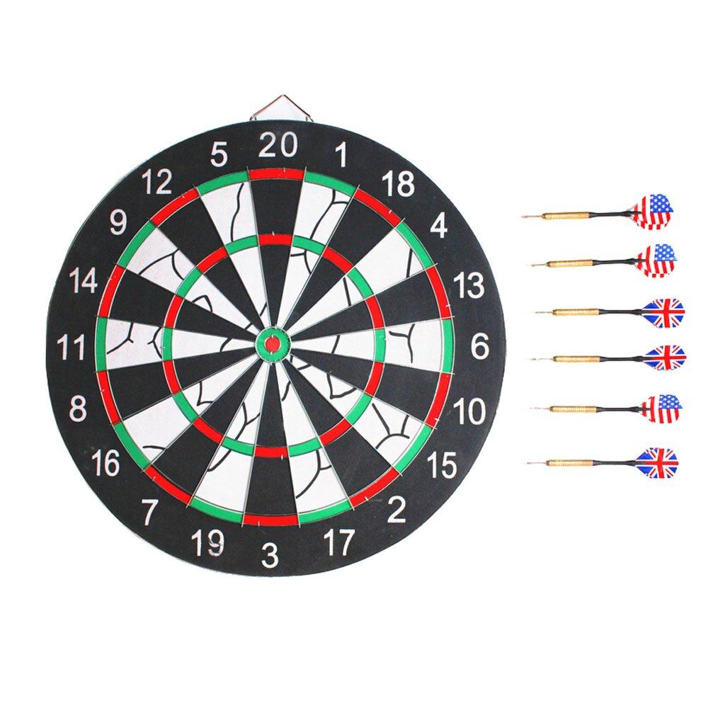 18インチデュアルコアDartboard、healsmile ® Pro Dart Board両面フロック加工Dart Board + 6ダーツ   B01BYEWDRI