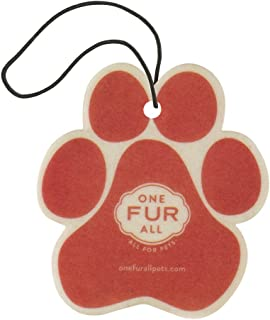 product image for One Fur All Pet House Car Air Freshener, Pack of 4 – Ruby Red Grapefruit - Non-Toxic Auto Air Freshener, Pet Odor Eliminating Air Freshener for Car, for Small Spaces, Dye Free Dog Car Air Freshener