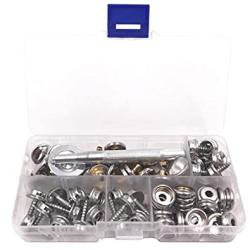 Snap Fastener Stainless Steel Canvas Boat Screw Press Stud Boat Tools Kit 75* Marine Hardware Atv,rv,boat & Other Vehicle