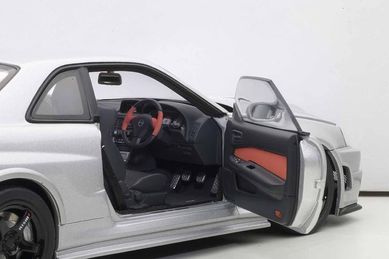 Amazon.com: AUTOart 1/18 NISMO R34 GT R Z Tune (Z Tune Silver): Toys U0026 Games