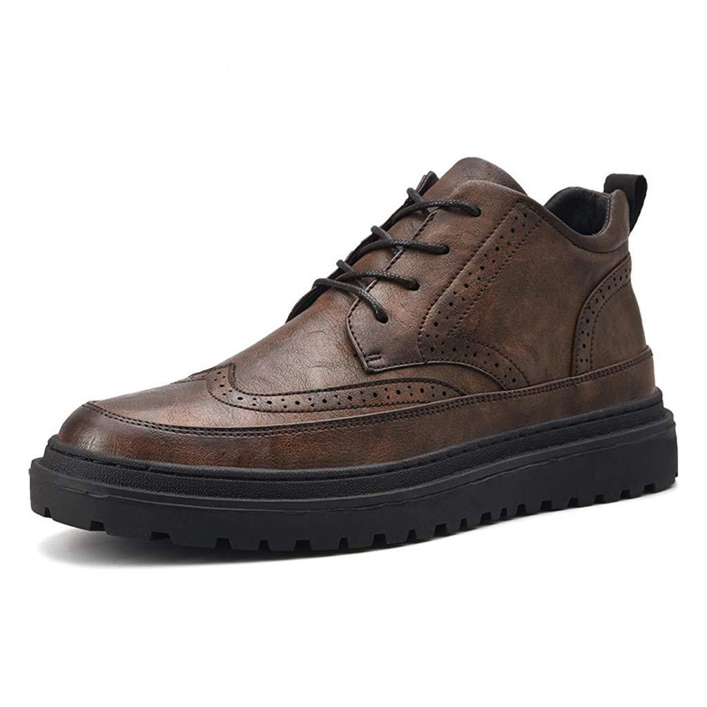 ChengxiO PU Leder Schuhe Freizeitschuhe Herrenschuhe Winter Warme Baumwolle Sports Schuhe Herren Outdoor Sports Baumwolle Schuhe Herrenschuhe Plus Samt Und Einzelne Schuhe Zwei Optionen (Farbe   braun, größe   39) 40223e