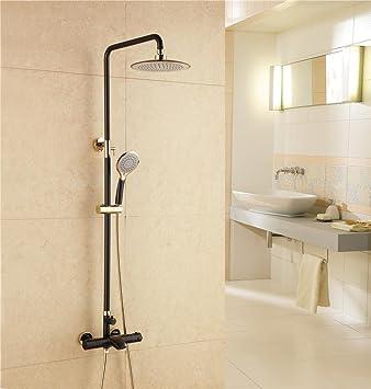 BingHaiY Ampliación de pintura negro ducha termostática ajustada ...