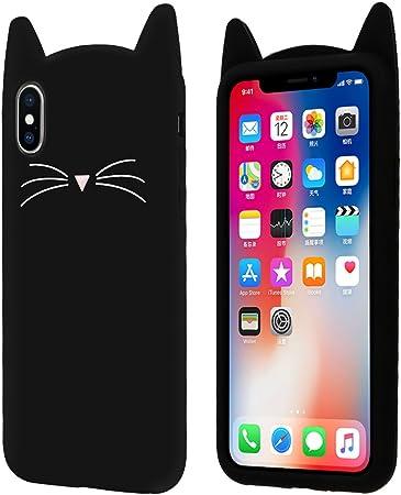 Yoedge Cover iPhone SE 2020, Antiurto Protective Silicone Case Cover TPU Gel Custodia con 3D Cartoon Disegni [Gatto] per Apple iPhone 8/7 (4.7 ...
