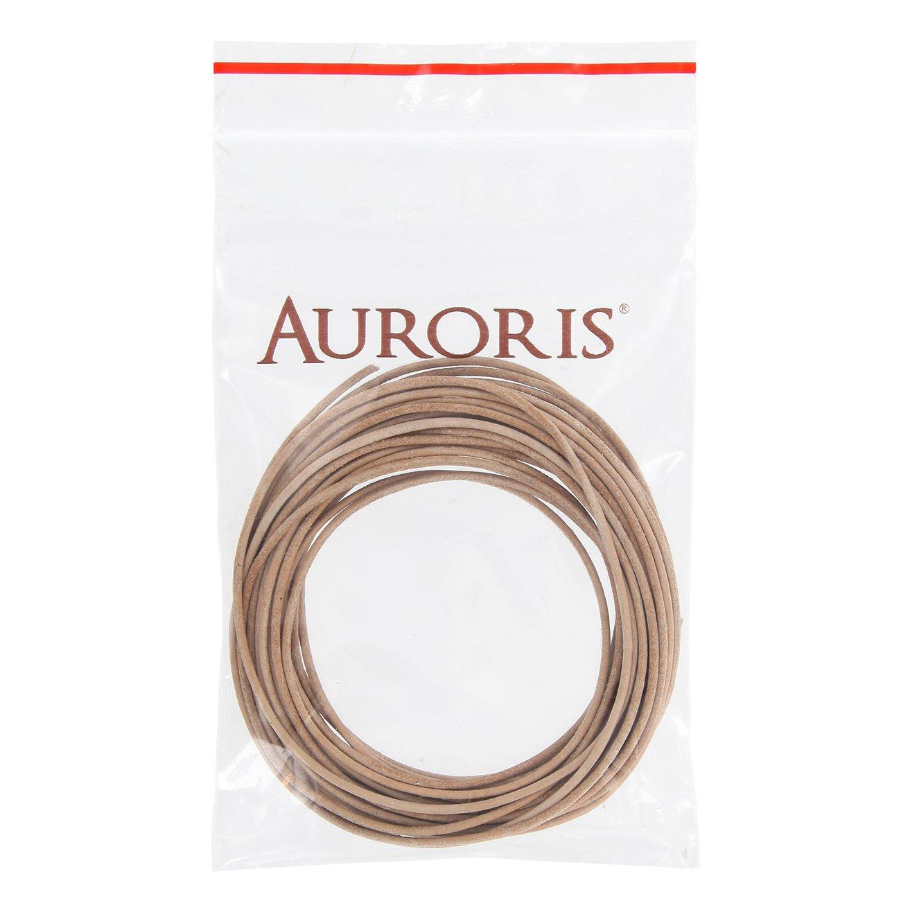 AURORIS ungef/ärbt 5m Lederband rund /Ø 1,5mm natur