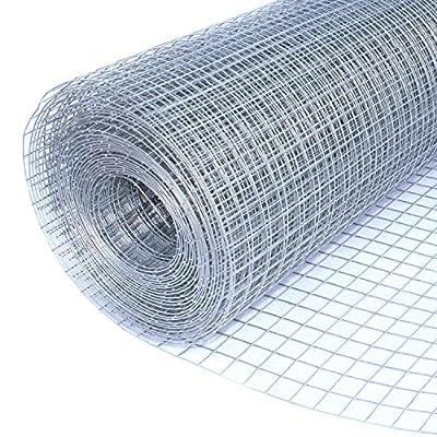 ALEKO WM40X50M1G16 Mesh Wire Roll Cloth, 16 Gauge Steel For Garden Fencing, Poultry Enclosures, Insulation Retainers, Storage Bins, Decorative Supports