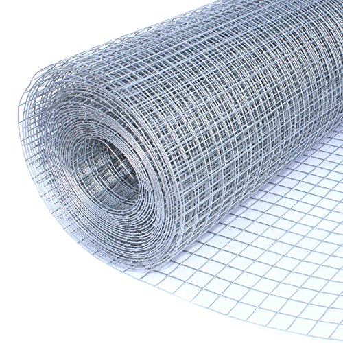 ALEKO Mesh Wire Roll Cloth 16 Gauge Steel 50 Feet Long 40 Inch Height 1 Inch Mesh by ALEKO