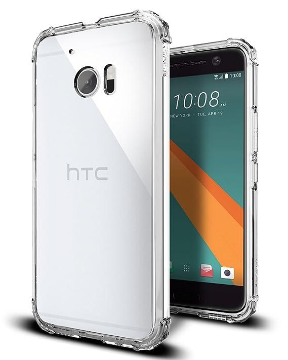 spigen Funda HTC 10, [Crystal Shell] Extra Shock-Absorb ...