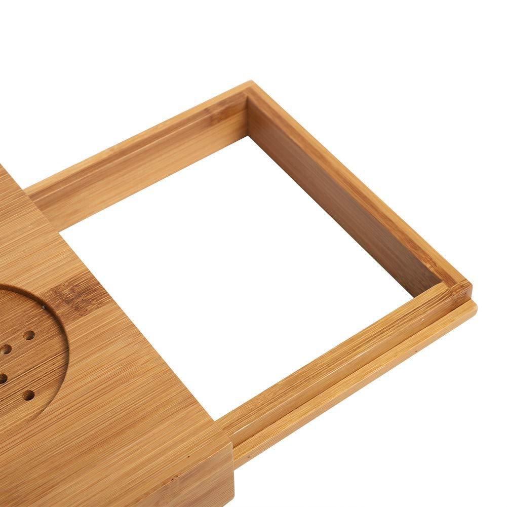 Vassoio da Bagno in bamb/ù Tavolo da scrivania telescopico per Vasca da Bagno per Telefono Laptop Notebook Bicchieri di Vino Candele Jacksking Vassoio per Vasca da Bagno