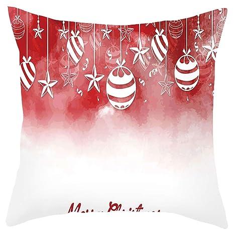 Winkey - Fundas de cojín Decorativas de Navidad de 45,7 x 45 ...