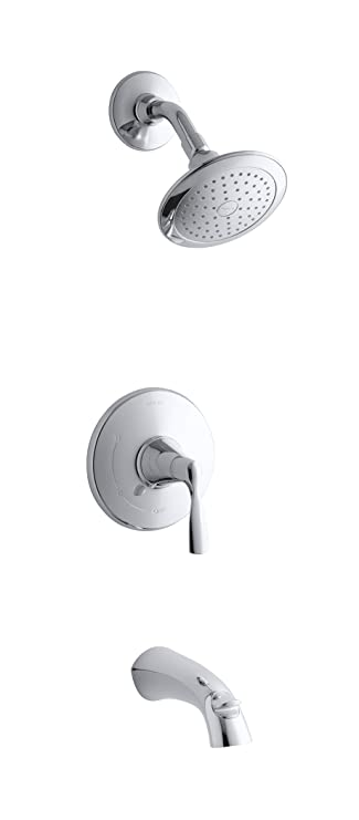 Kohler K R37028 4e Cp Bath Shower Faucet Polished Chrome Single