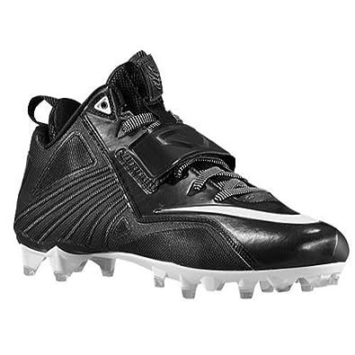 Nike CJ Elite 2 TD Calvin Johnson Football Cleats Shoes Black White Mens  Size 15