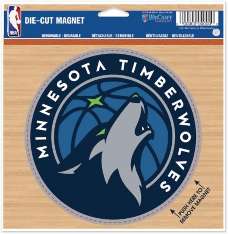WinCraft NBA Minnesota Timberwolves Color 4.5 x 6 Die Cut Magnet