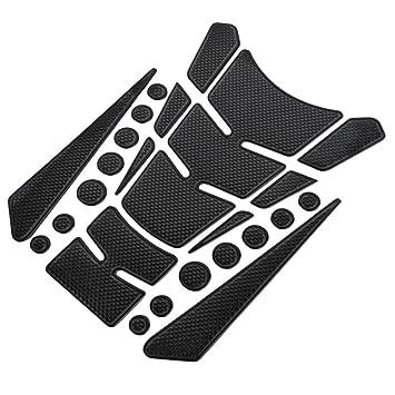 JenNiFer Universal 3D Motorcycle Tank Pad Decal Protector Cover Sticker For Honda//Yamaha//Suzuki Red